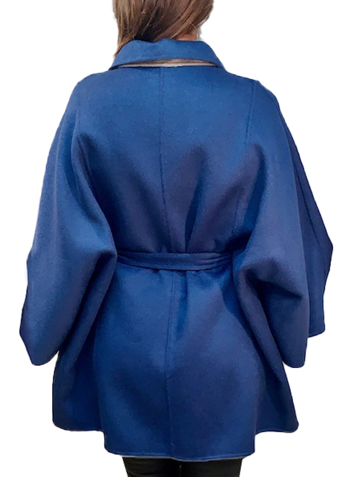"32"" double sided cashmere cape"