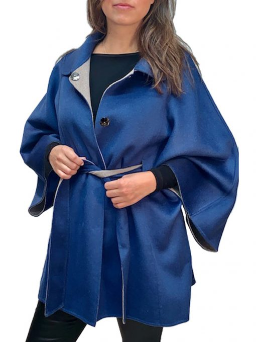 """32"""" double sided cashmere cape"""