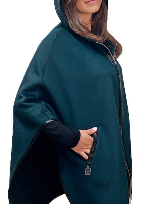 """29"""" cashmere cape with hood"""