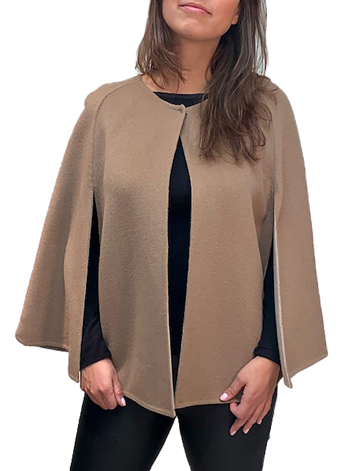 "25"" Cashmere short cape"