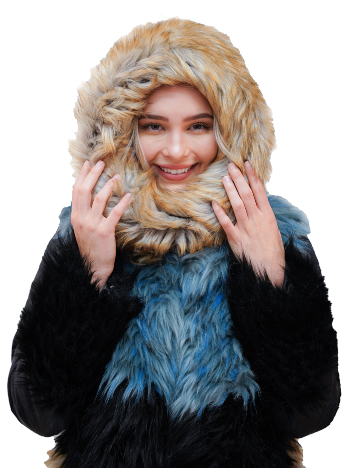 Faux Fur Tube / Camel