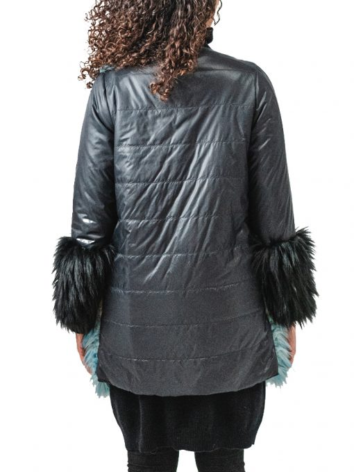 Faux Fur Coat 3 colors with Pollyfill in the back